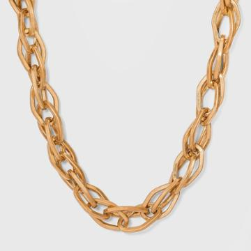 Oval Link Chain Necklace - Universal Thread Worn Gold