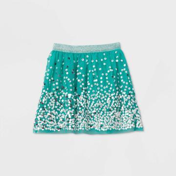 Girls' Sequin Skirt - Cat & Jack Green