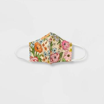 Women's Mask - Who What Wear Cream Floral S/m, Ivory Floral