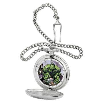 Disney Men's Marvel Hulk Silver Pocket Watch -