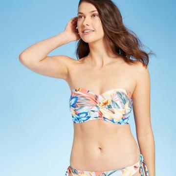 Women's Twist-front Bandeau Bikini Top - Kona Sol D/dd Cup, Pink