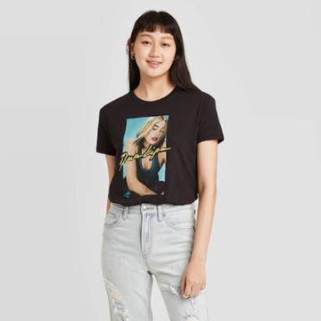 Women's Dua Lipa Short Sleeve Graphic T-shirt - Black