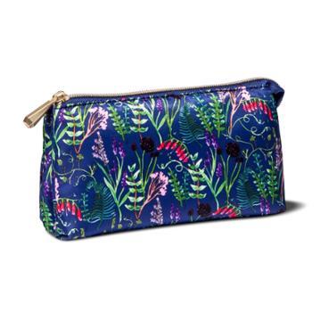 Sonia Kashuk Zip Purse Impressionist Ditsy Floral Blue
