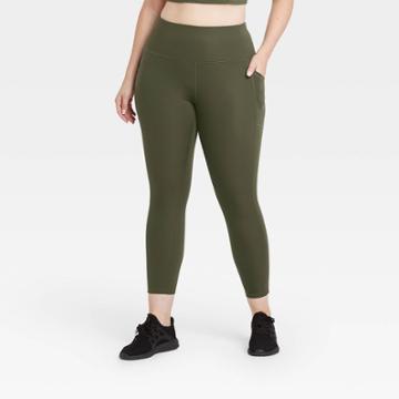 Women's Sculpted High-rise 7/8 Leggings 24 - All In Motion Olive Green Xs, Women's, Green Green
