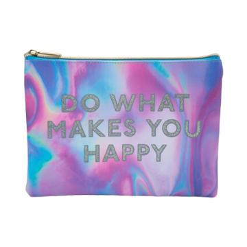 Ruby+cash Do What Makes You Happy Makeup Pouch - Multi Iridescent