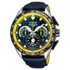 Men's Pulsar Chronograph Watch - Black Leather