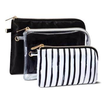 Sonia Kashuk 3pc Purse Kit Set - Black/stripe