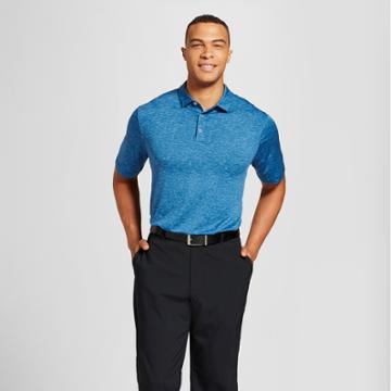 Men's Big & Tall Spacedye Golf Polo Shirt - C9 Champion Blue 3xbt,