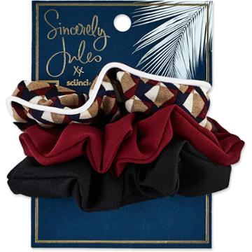 Sincerely Jules By Scunci Sincerely Jules By Scnci Printed And Solid Scrunchies - 2pk,