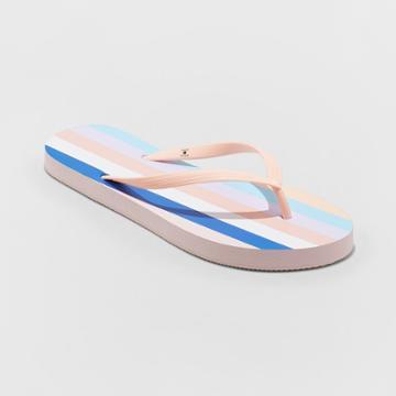 Shade & Shore Women's Sara Stripe Flip Flops - Shade &