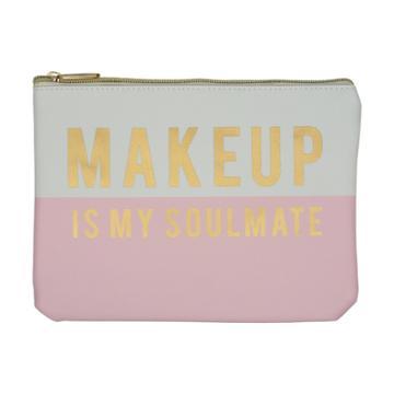Ruby+cash Faux Leather Makeup Bag & Organizer - Makeup Soulmate Color Block