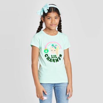Nickelodeon Girls' Jojo St. Patrick's Day T-shirt Green S, Girl's,