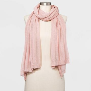 Women's Wrap Scarf - A New Day Smoked Pink One Size, Women's