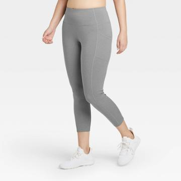 Women's Sculpted High-rise 7/8 Leggings 24 - All In Motion Charcoal Gray Xs, Women's, Grey Gray