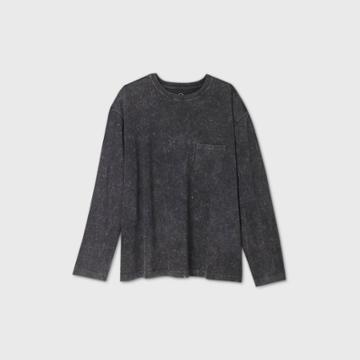 Men's Big & Tall Long Sleeve T-shirt - Original Use Black