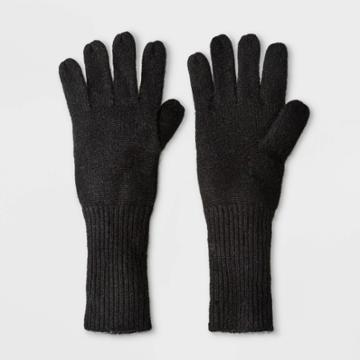 Women's Cashmere Mittens - A New Day Black One Size, Women's