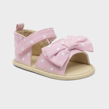 Ro+me By Robeez Baby Girls' Big Bow Ankle Strap Sandals