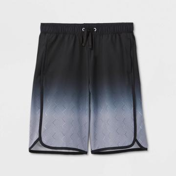Boys' Quick Dry Board Shorts - All In Motion Black/silver