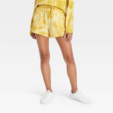 Women's Mid-rise French Terry Shorts 3.5 - All In Motion Antique Gold