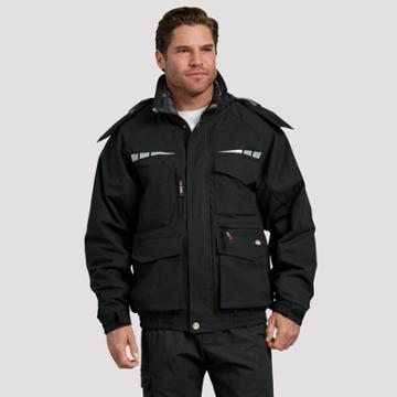 Dickies Men's Long Sleeve Bomber Jackets - Black