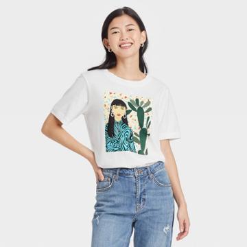 Women's Bijou Karman Terrazo Short Sleeve Graphic T-shirt - White