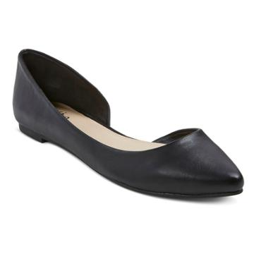 Mossimo Black Womens Kendall Flats Black 7.5