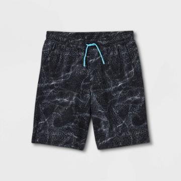 Boys' Quick Dry Board Shorts - All In Motion Black/gray