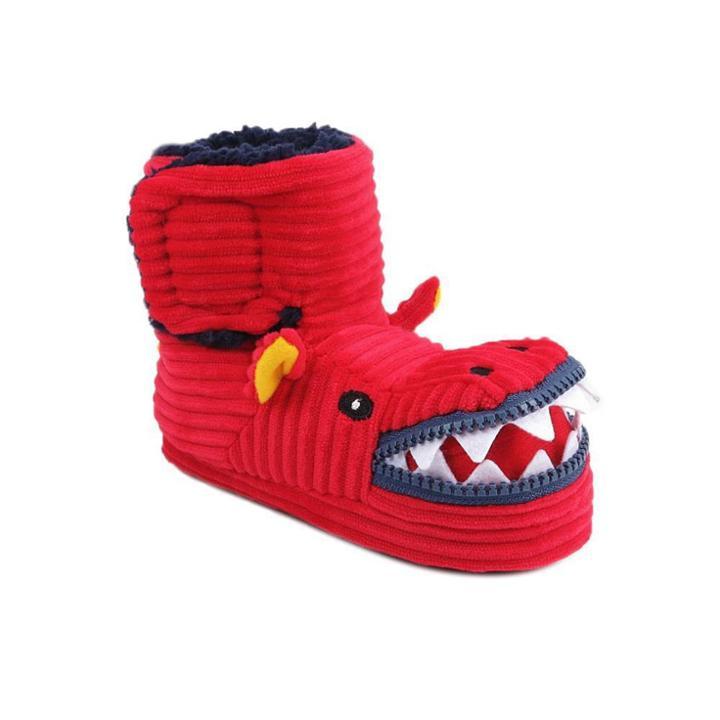 Toddler Boys' Lindell Dinosaur Bootie Slipper - Cat & Jack M(7/8), Boy's, Size: Medium(7-8), Red
