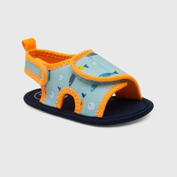Ro+me By Robeez Baby Boys' Fish Ankle Strap Sandals