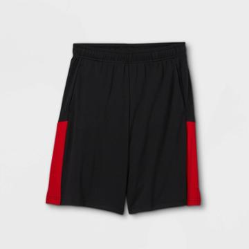 Boys' Colorblock Mesh Shorts - All In Motion Black