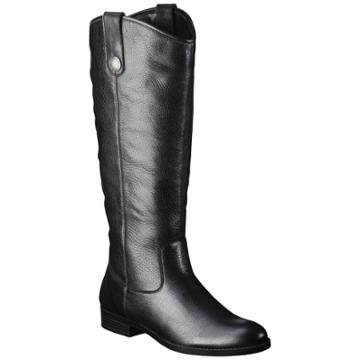 Merona Women's Kasia Leather Riding Boots - Black 7.5w, Size: