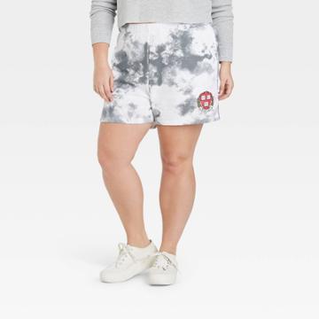 Women's Plus Size Harvard Athletic Graphic Jogger Shorts - Gray