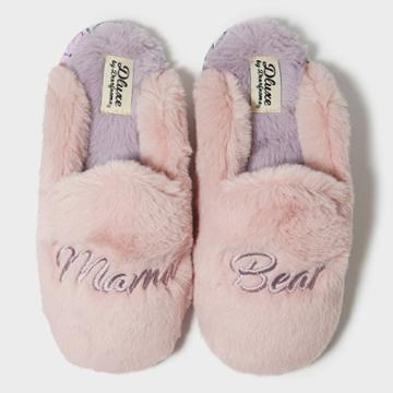 Women's Dluxe By Dearfoams Mama Bear Slippers - Pink