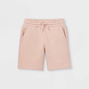 Kids' Knit Jogger Shorts - Cat & Jack Peach