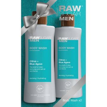 Raw Sugar Men's 2-pack Body Wash Citrus + Blue Agave