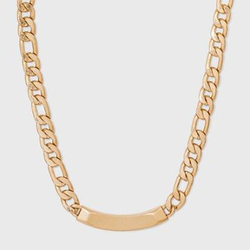 Curb Chain And Bar Necklace - Universal Thread Worn