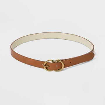 Women's 26mm Double O Ring Buckle Belt - Universal Thread Tan Xs, Women's, Brown