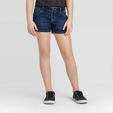 Girls' Jean Shorts - Cat & Jack Dark Wash S, Girl's, Size: Small, Dark Blue