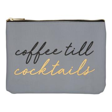Ruby+cash Faux Leather Makeup Bag & Organizer - Coffee Till Cocktails