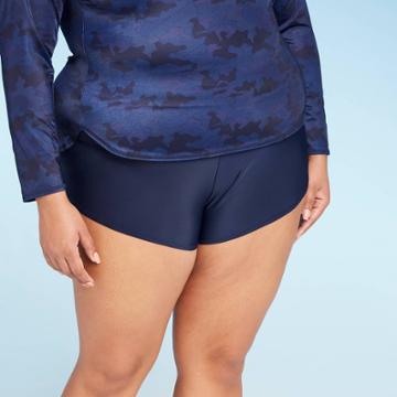 Women's Plus Size Paddle Board Swim Shorts - All In Motion Navy 14w, Women's, Blue