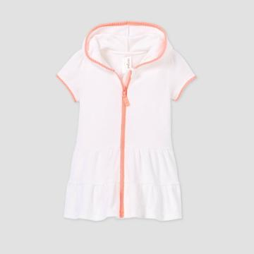 Toddler Girls' Zip-up Hooded Terry Cover Up - Cat & Jack White