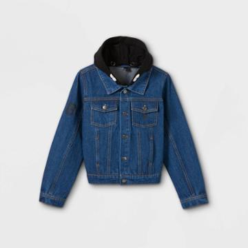 Boys' Disney Hooded Jean Jacket - Blue Xs - Disney