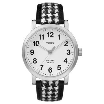 Timex Originals Watch With Houndstooth Strap - Silver/black Tw2p988002b, Adult Unisex