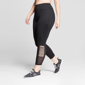 Women's Plus Size Freedom Mesh Insert Leggings - C9 Champion Black