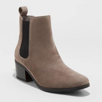 Women's Ellie Wide Width Chelsea Boots - A New Day Gray