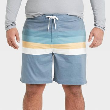 Men's Big & Tall 8.5 Striped Board Shorts - Goodfellow & Co Indigo