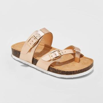 Girls' Mad Love Flynn Footbed Sandals - Rose Gold