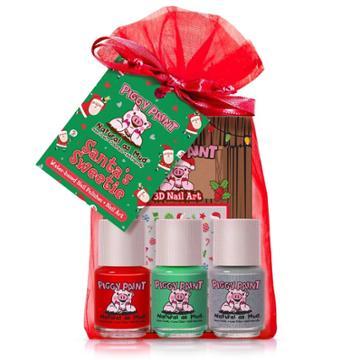 Piggy Paint Nail Polish Set - Santa's Sweetie - 3pk/0.25 Fl Oz Each +