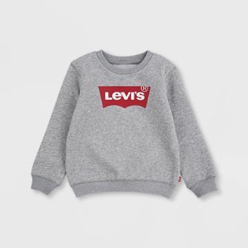 Levi's Toddler Boys' Batwing Logo Fleece Pullover Sweatshirt - Gray Heather