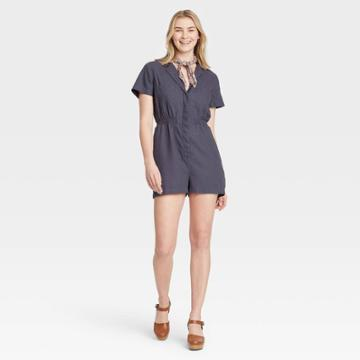 Women's Short Sleeve Boilersuit - Universal Thread Gray